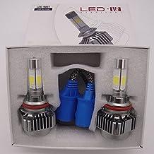 9007 LED Headlight Conversion Kit with 2 Pcs of Headlight Bulbs CREE LED Chips Hi-Lo Beam - 80W 16000lm Low Beam & 160W 18000lm High Beam
