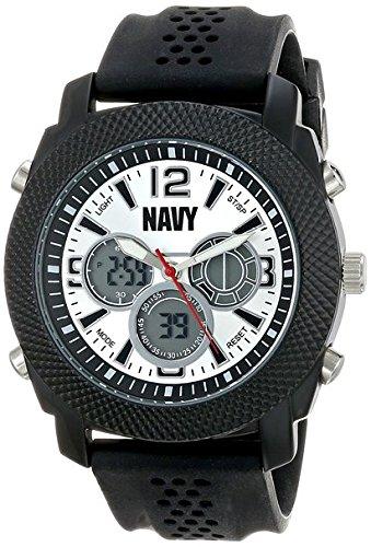 Wrist Armor Men's 37400005 U.S. Navy C21 Analog-Digital Display Japanese Quartz Black Watch - Black Navy Wrist Watch
