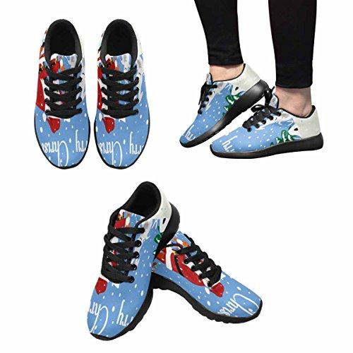 Interestprint Femmes Jogging Running Sneaker Léger Aller Facile Marche  Confort Sport Chaussures De Course Père Noël ...