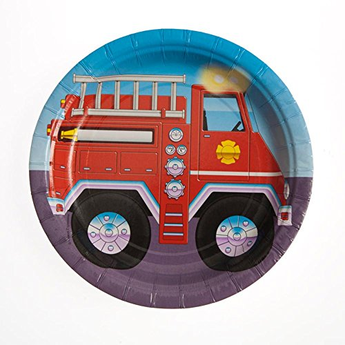 (Creative Converting Firefighter 8 Count Paper Lunch Plates)