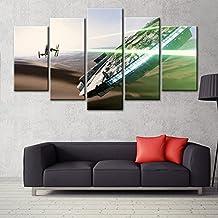 5 panel canvas art wall framed paintings Modern Art print star Wars Movie Postersiza B No Framework