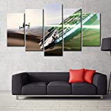 5 panel canvas art wall framed paintings Modern Art print star Wars Movie Poster Printed on canvas30x50x2 30x70x2 30x80x1(CM)^^^With frame^^^beige