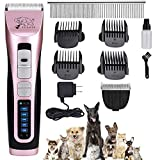 Pet Clippers -【with 2 Shaving Heads】3 Speed Low Noise Dog...