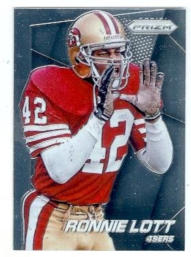 - Ronnie Lott football card (San Francisco 49ers Super Bowl Champion) 2014 Prizm Chrome #128