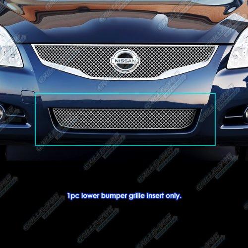 APS 2010-2012 Nissan Altima Sedan Bumper X Mesh Grille Insert (Nissan Altima Bumper Grille)