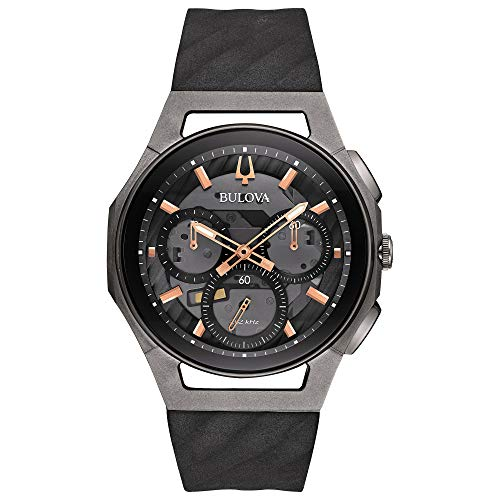 Bulova Men's Curv - 98A162 Black/Stainless Steel/Titanium One Size