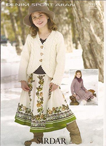 Cardigan in Denim Sport Aran - Sirdar Knitting Pattern 2235 - Sport Weight Knitting Patterns