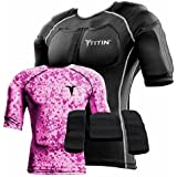 The TITIN Force Weighted Shirt System - 8 Lbs Of Hydro-Gel Inserts - 1 14-Pocket Inner Compression Shirt - 1 Outer Compression Shirt (2X-Large, Pink Camo)