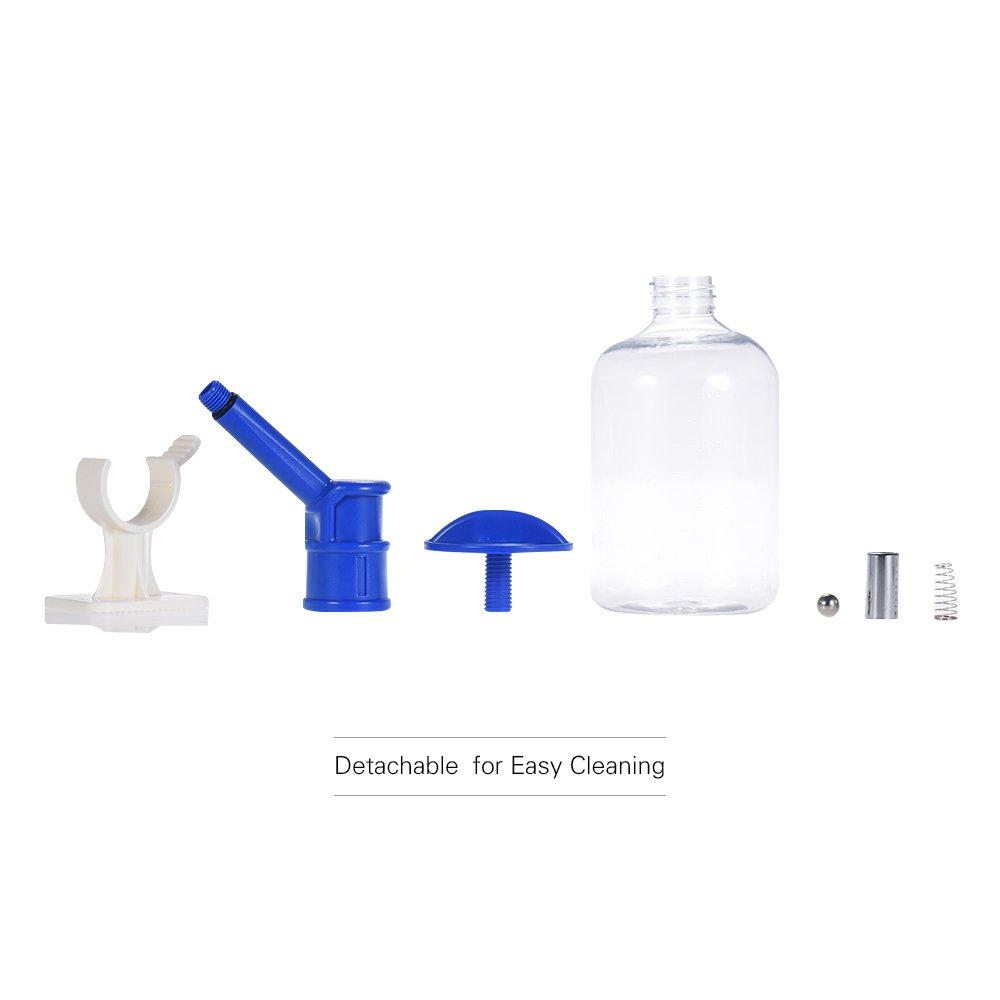 Decdeal Pet Cage Water Drinking Bottle 500ml Medium Large Dog Cat Dispenser Non Drip Nozzle Diameter 12mm