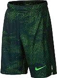 Nike Boys Athletic Dry Printed Fly Comfortable Elastic Training Shorts with Pockets (Green Strike/Medium)