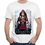 DF Mens Pilot Season 1 Super Girl Melissa Benoist T Shirt White L