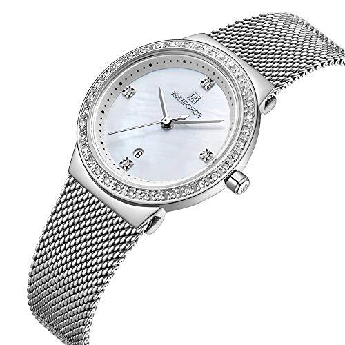 Women Fashion Analog Quartz Watch Casual Waterproof Lady Dress Watches Simple Luxury Diamond Stainless Steel Band Wristwatch