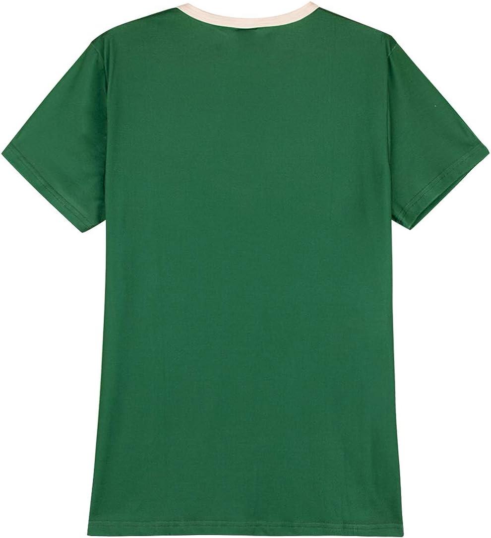 Patricks Day Femme T-Shirts Leprechaun D/éguisement Tr/èfle Costume COSAVOROCK St