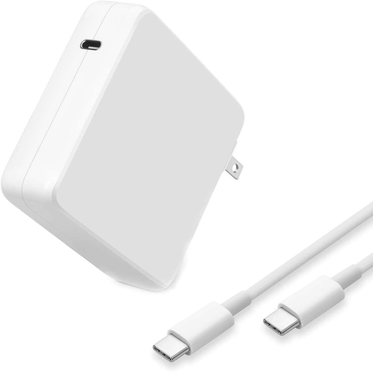 96W USB C Charger Power Adapter for Mac Book Pro 16, 15, 13 inch, New Mac Air 2020/2019/2018, USB C Thunderbolt 3 Laptop Power Supply, Type C 6.5ft USB C to C Charge Cable