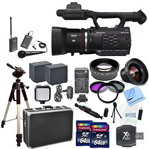 Panasonic AG-AC90A AVCCAM CAMCORDER Video Camera, AGAC90APJ, With CS Interview/Documentary Kit: Includes Wireless Lapel by Circuit Street