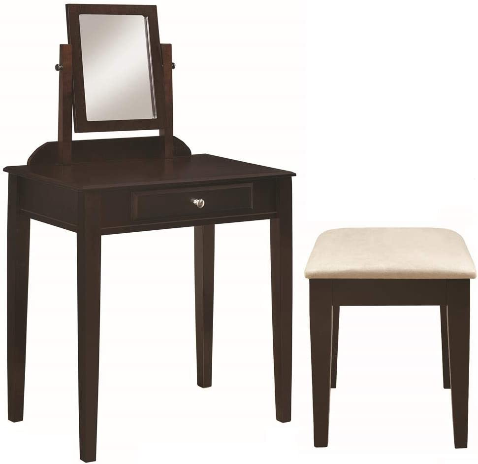 Frenchi Home Furnishing 2-piece Vanity Set, Espresso