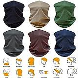 5 PCS UV Headwear Headband Head Wrap Neck Gaiter Mask Magic Scarf Tube