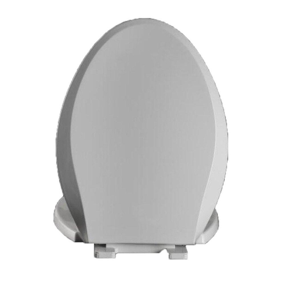 White 44 ANHPI Universal Toilet Seat V-shaped Slow Down Mute Antibacterial Toilet Lid,Beige-44-4936CM