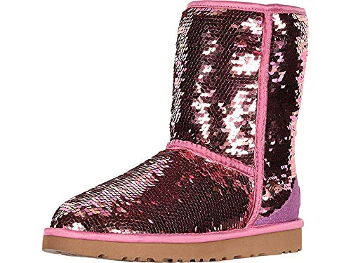 Ugg Shorts - UGG Women's W Classic Short Sequin Fashion Boot, Pink, 7 M US