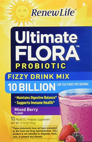 Renew Life Mixed Berry Fizzy Probiotic Drink Mix Ultimate