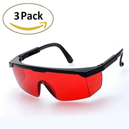 fc6c04451d79 LUCHENG 3 Pack Protection Goggles Laser Safety Welding Glasses Green Blue  Red Eye Spectacles Protective Eyewear (Red) - - Amazon.com