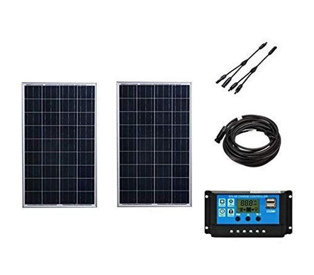 SAYA ソーラーパネル200Wキット 12v家庭用 RVカービン 発電 B07DCWJ28D
