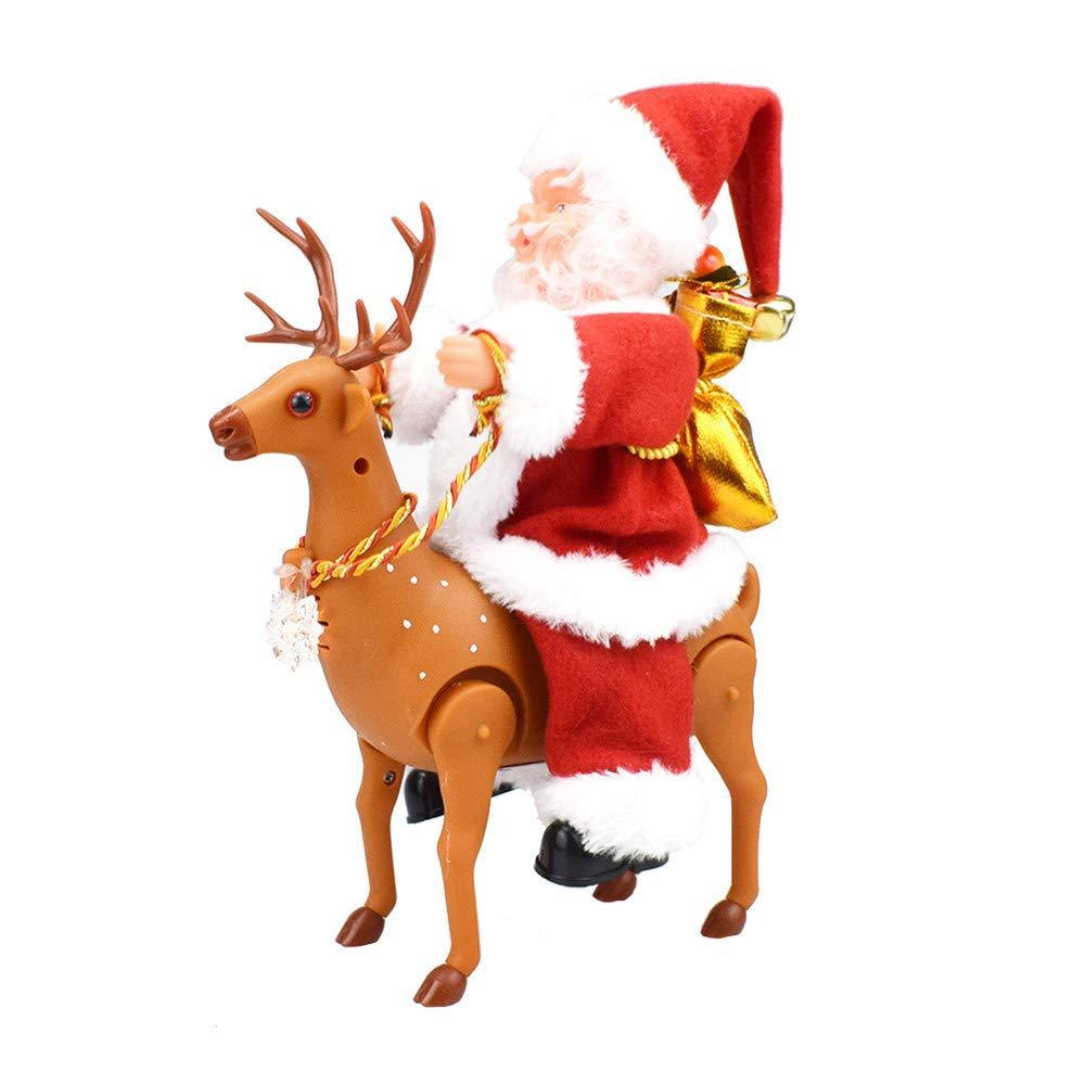 Faionny Electric Musical Twerking Walking Around The Deer Santa Education Toys Souptoys Free)