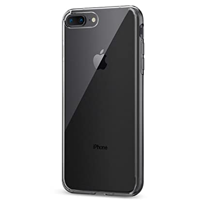 check out 2cb22 b7bfd Spigen Liquid Crystal Case Designed for iPhone 8 Plus (2017) / iPhone 7  Plus (2016) - Crystal Clear 055CS22233