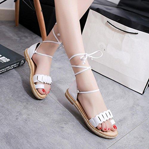 ... Sandalen Frauen Klassische Zehen Weiß Offene Sommerschuhe Elastische  Flache BZLine® StqwxdZHZ 8f054a4acb