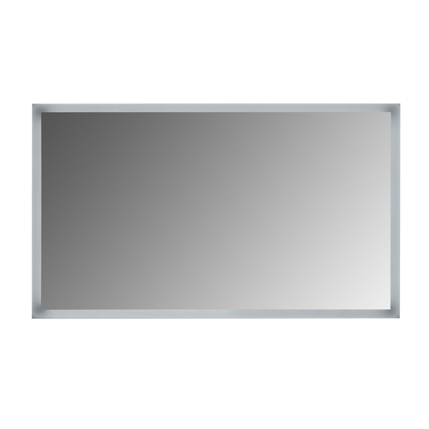 MAYKKE Riley 48'' W x 28'' H LED Mirror with Defogger, Wall Mounted Lighted Bathroom Vanity Mirror, Frameless Mirror, Horizontal or Vertical Mirror with LED Lighting Border UL Certified, LMA1064801