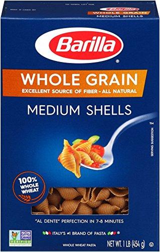 Barilla Whole Grain Pasta, Medium Shells, 16 - Barilla Grain Whole Pasta