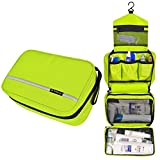Pockettrip Hanging Toiletry Kit Clear Travel BAG Cosmetic Carry Case Toiletry (Green)