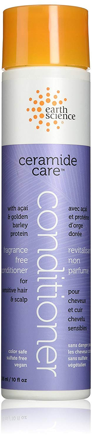 Earth Science Ceramide Care Fragrance Free Conditioner for sensitive hair & scalp — vegan & sulfate free, 10 oz.