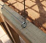 1-13/16 inch Antique Brass Plated Screw Eye Bolt