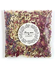 100% Natural Wedding Confetti-Biodegradable Dried Rose Flowers and Petals Confetti for Wedding and Party Decorations,10g/ct