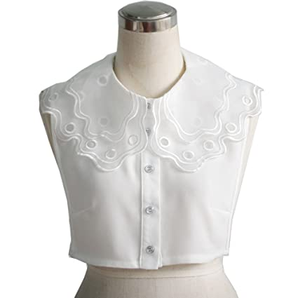 ttjii mujeres desmontable solapa encaje Floral camiseta Fake Falso ...