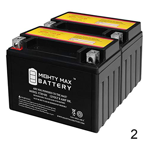 Mighty Max Battery YTX9-BS Battery for Honda TRX 300 400EX Sportrax Fourtrax - 2 Pack Brand Product