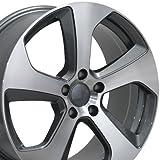 vw rims 18 - 18x8 Wheel Fits Volkswagen - VW GTI Style Gunmetal Rim w/Mach'd Face