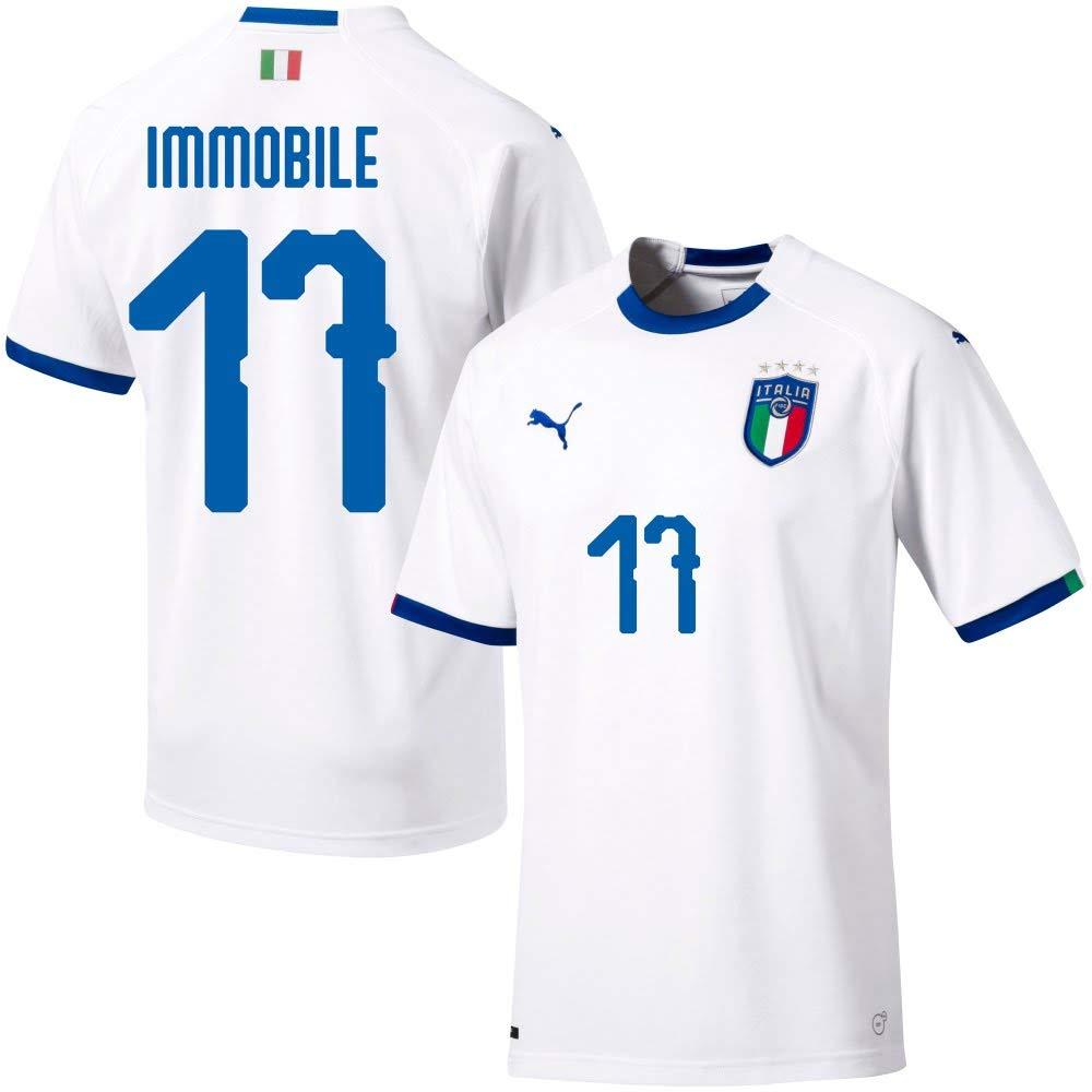 Italien Away Trikot 2018 2019 + Immobile 17 (Fan Style)