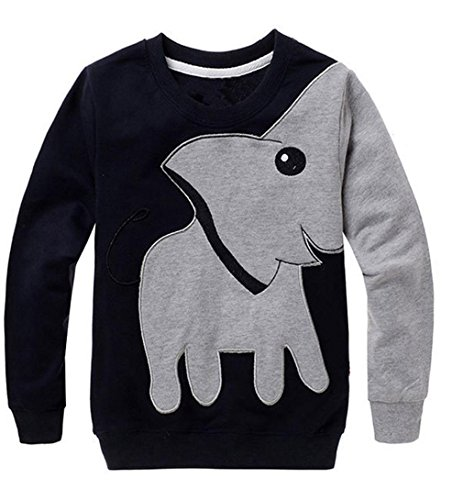 Toddler Sweatshirt MITIY Baby Girls Boys Clothes Elephant Long Sleeve Blouse Tops Sweater Shirtn Newborn-5Y (Gray, 3T)