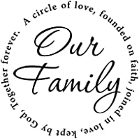 Amazon Our Family Wall Decal Circle Love Wall Quotes