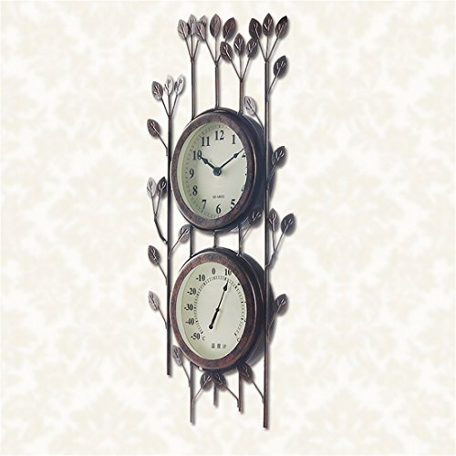 Modern creative arts wall clock living room wall chart bedroom home decor with Thermometer Clock Creative Fashion Clocks, 16Inch,Withered branches in (Marathon Color Chart)
