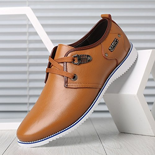 formali con Estate vera Orange Matte 39 Stringati pelle in 2018 Scarpe da shoes Size da Orange uomo Fang lavoro Primavera lacci EU traspiranti Color H70qxvwa