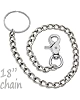 """18"""" Chrome Steel Wallet Chain Trigger Snap Hook"""