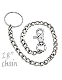 18 Chrome Steel Wallet Chain Trigger Snap Hook by ProTool
