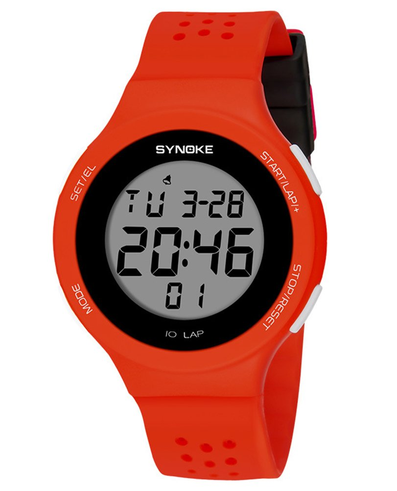 Cheamlion Red Swimming Chronograph Digital Elastic Watch for Girls by Cheamlion