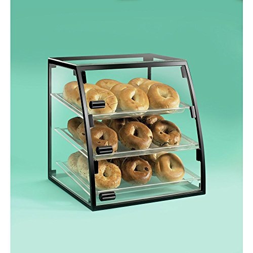 Cal-Mil 1708-1318 Curved Iron Display Case, 18'' Width x 16'' Depth x 21'' Height, Black by Cal Mil