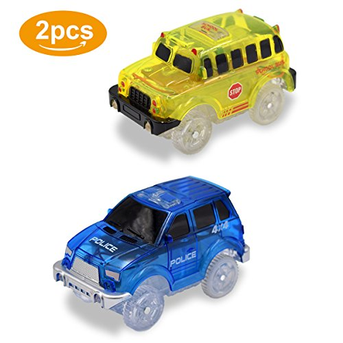 Lydaz Race Track Set Vehicle playset Light up Car