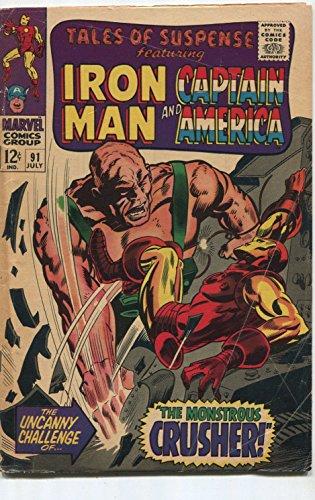 Tales Of Suspense #91 VG Iron Man And Captain America Marvel SA