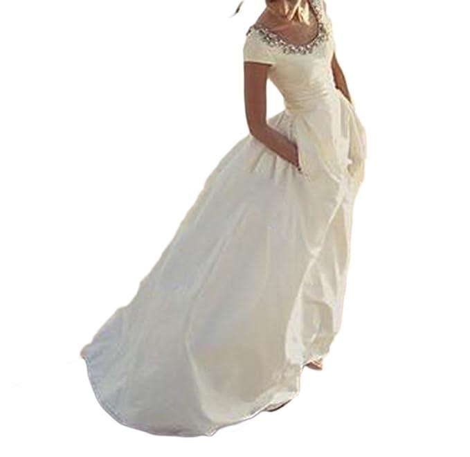 Amazon.com: veilace boda vestidos de novia con bolsillos de ...